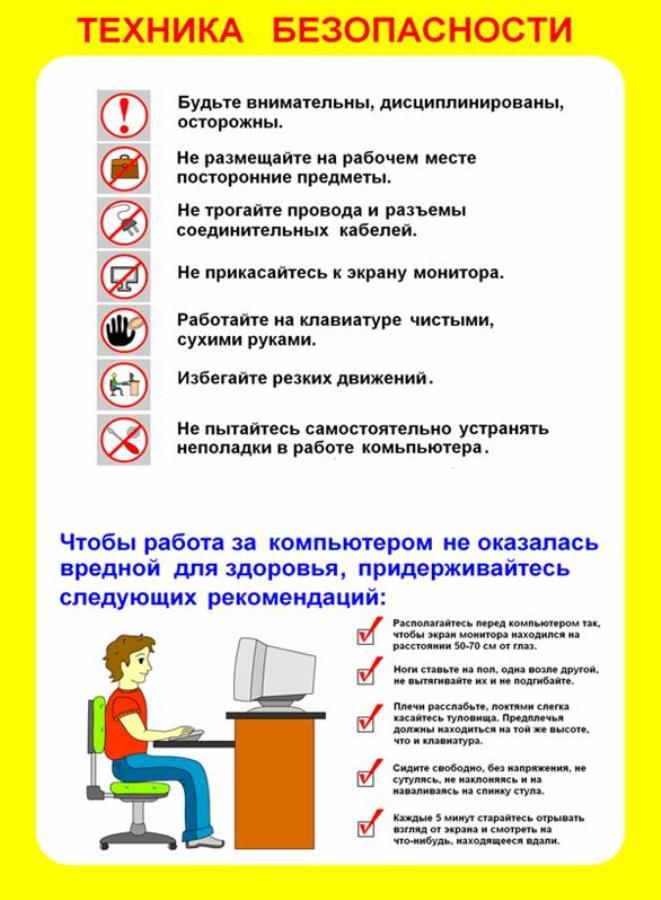 Какие инструкции должны быть на рабочем месте