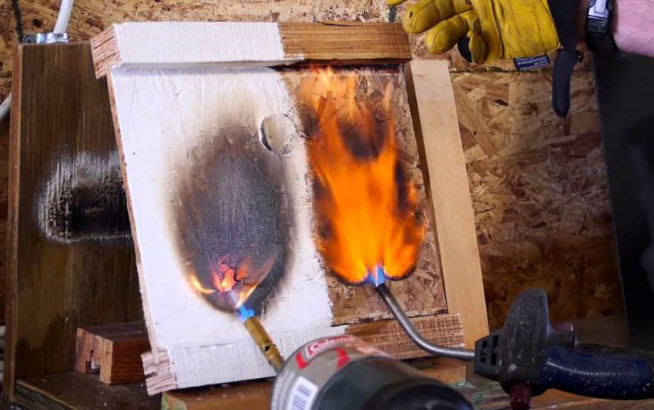 Протокол проверки состояния огнезащитной обработки образец